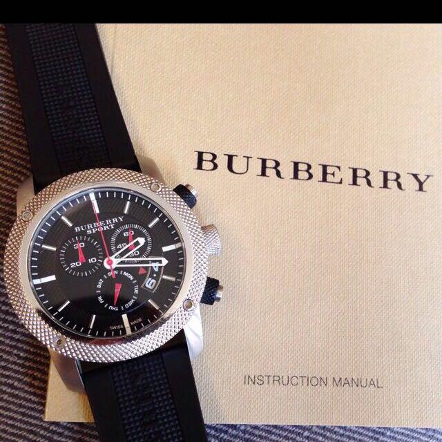 Burberry 運動男錶 公司正品 二手