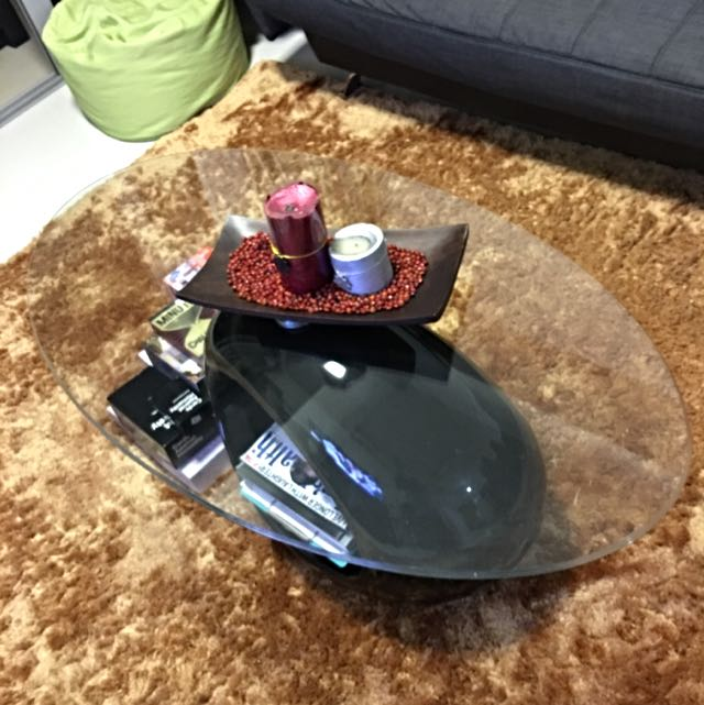 Center Table Coffee Table Tempered glass *Reserved*