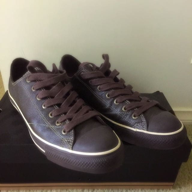 Converse All Stars Leather Brown UK11