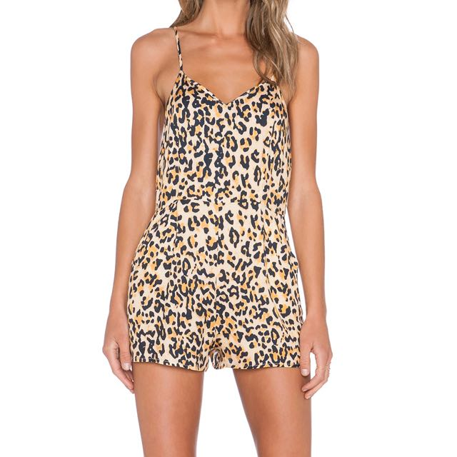 Evil Twin Untamed Playsuit in Cheetah print