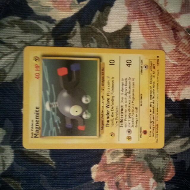 First Edition Mint Condition Magnemite