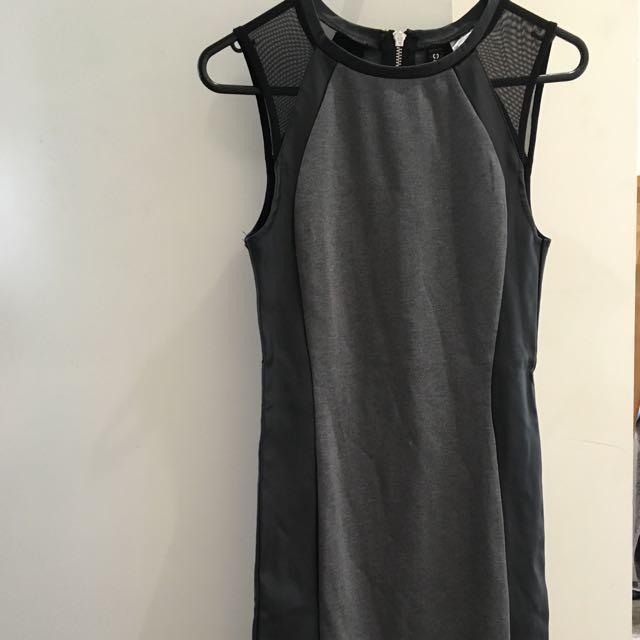 H&M Black And Grey Dress