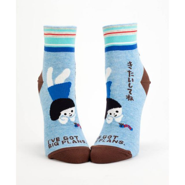 I Have Got Big Plans Women's Ankle Socks - Blue Q Fy\nny Cute Gifts