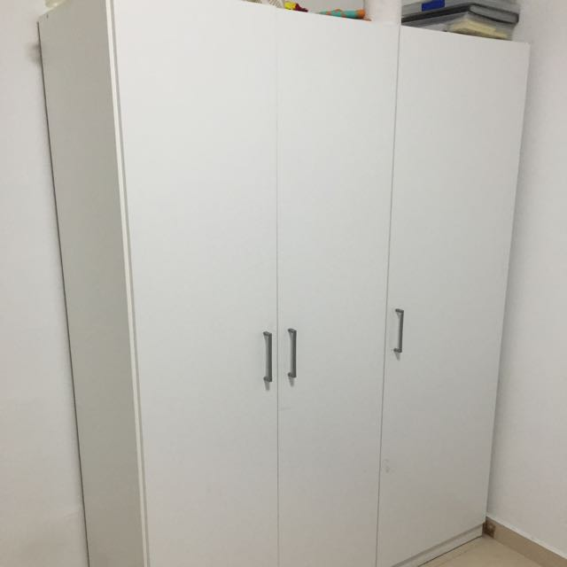 Ikea domb s wardrobe white furniture on carousell for Ikea guardaroba dombas
