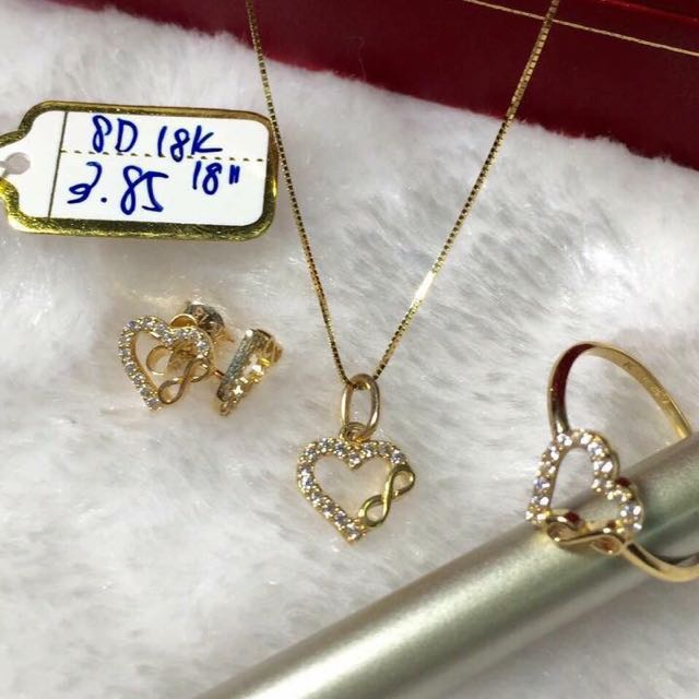 Jewelry Set Saudi Gold 18K750 Luxury Accessories on Carousell