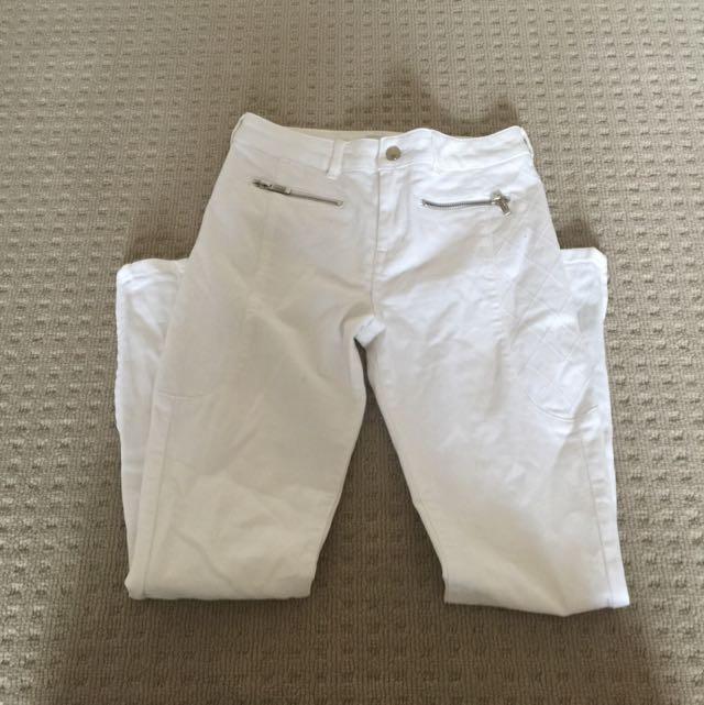 Karen Millen Designer White Skinny Jeans
