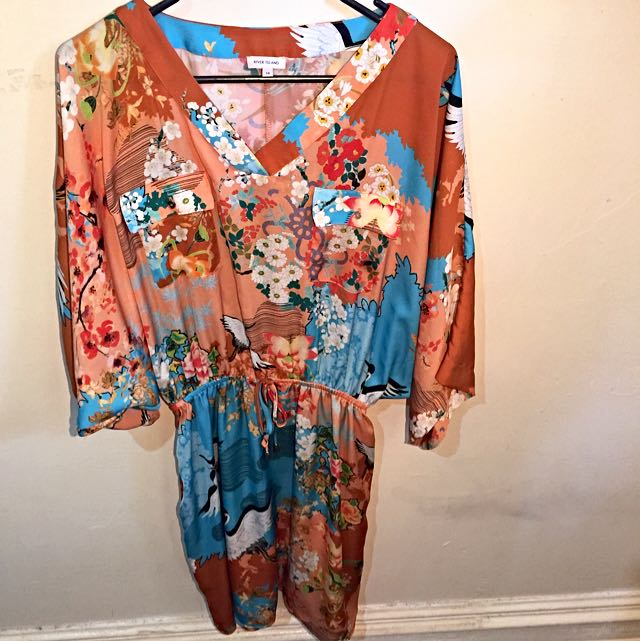 Kimono Dress, River Island Size 12/14