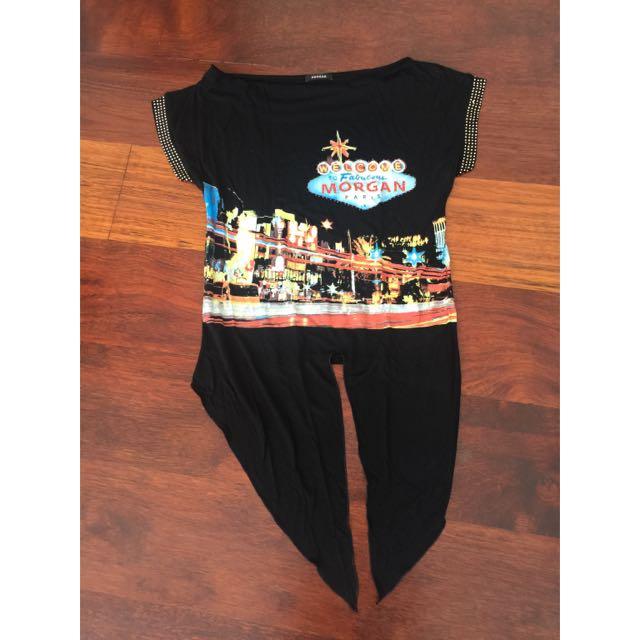Morgan De Toi Paris Crop T-shirt Size S ( Fit To M )