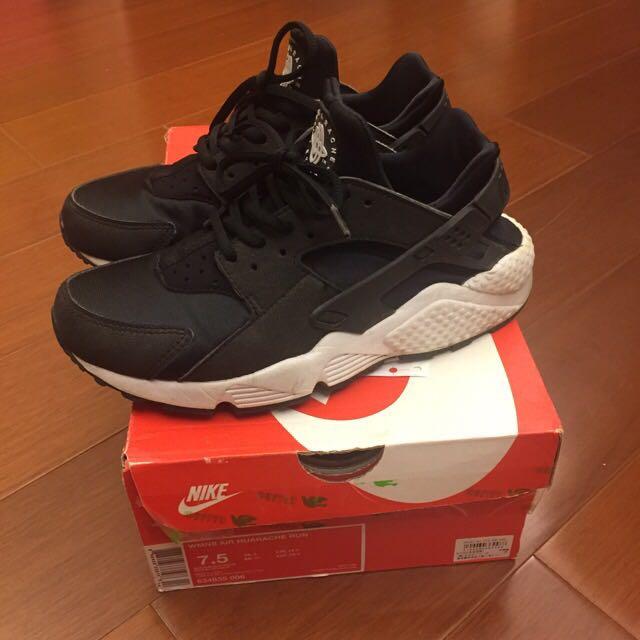 Nike Huarache 黑白武士鞋 24.5