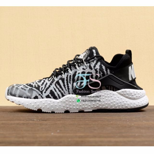 1ac74096498d ORIGINAL Nike Air Huarache Ultra Zebra Print Unisex Shoes Sneaker ...