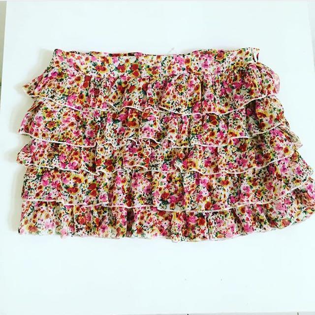 Preloved Pull & Bear Mini Tiered Skirt