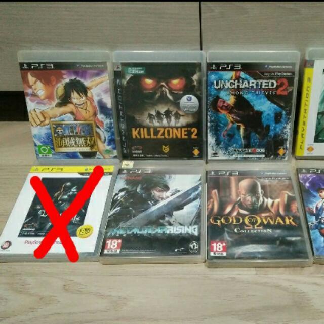 PS3 遊戲出清 秘境探險1 惡魔靈魂1 戰神1 2 秘境探險2 快打旋風4 殺戮地帶2 海賊無雙1 潛龍諜影 再復仇崛起