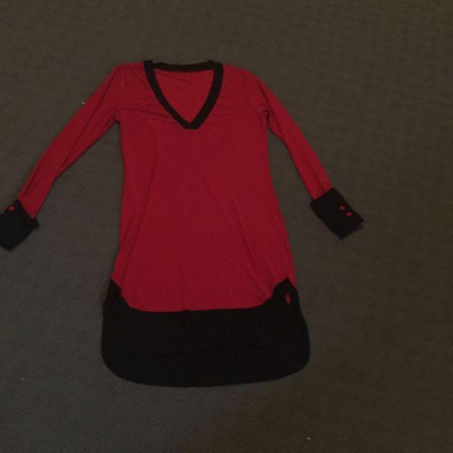 Red Winter Kind Dress Size Medium