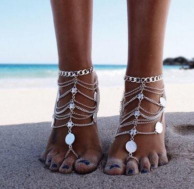 Silver Boho Anklet