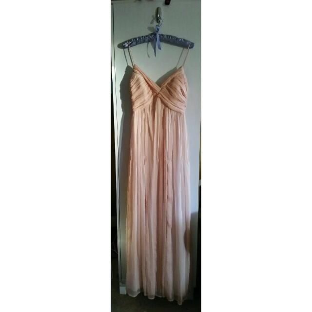 (Size S) Peach Bridesmaids/Formal Dress