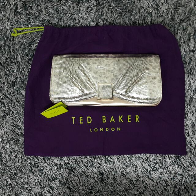 Ted Baker Gold Clutch