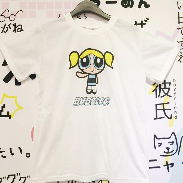 飛天小女警泡泡短袖T恤短T