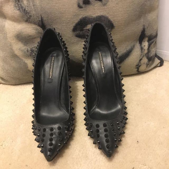 Windsor Smith Studded Black Heels
