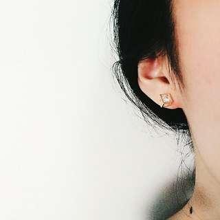 ⬇降⬇小方心藏鑽耳環