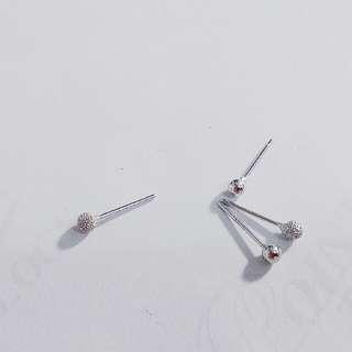 純銀小圓珠氣質耳環