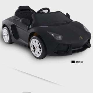 藍保基尼兒童電動車,黑色