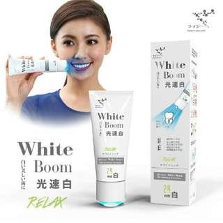 來自日本牙齒美白的秘密【萊思光速白藍光牙膏-薄荷味】