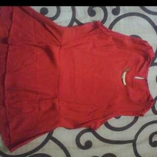 Red Peplum