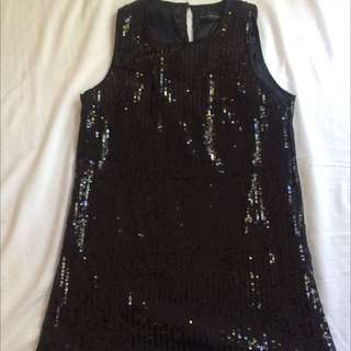 Sequinned Peter Morrissey Dress Size 12