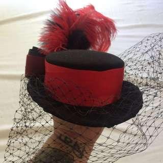 Custom Made Top Hat Fascinator With Veil