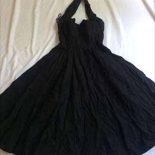 Vivienne Of Holloway Sz 12 50's Black Circle Dress