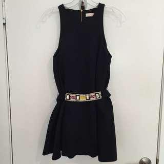 Sass & Bide Navy Minidress