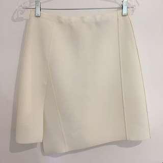 Saba Ivory Asymmetrical Skirt