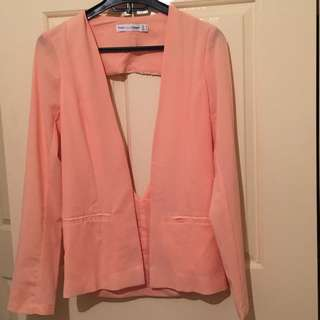 Toby Heart Ginger Peach Blazer Sz 6-8 free shipping with tracking