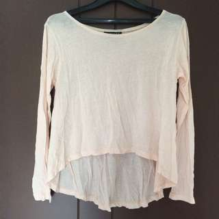 Crop Top Long Sleeve Shirt