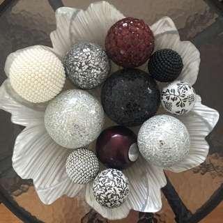 Home Decor Bowl Balls Decoration Accessories