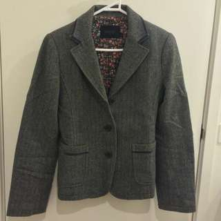 Grey Korean Patterned Blazer