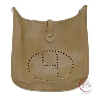 Authentic HERMES Evelyne III GM Shoulder bag Gold Taurillon Clemence 09 5.26