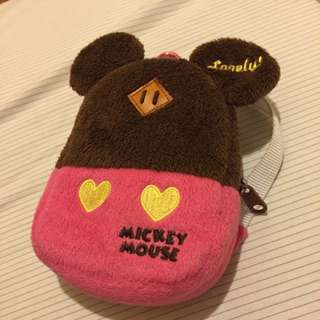 迪士尼 米妮 米老鼠 豬鼻包 迷你包 小物包