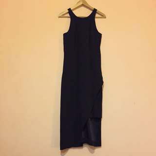 Veronika Maine Navy Dress - Size 6