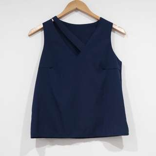 Navy Blue Pastel Top