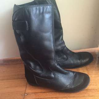 Snow Winter Leather Boots Lined 10