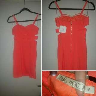 Blossom Size 6 Neon Cutout Dress