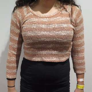 3/4 knit top size M