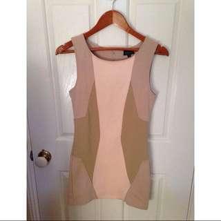 Topshop Nude/beige Bodycon Dress