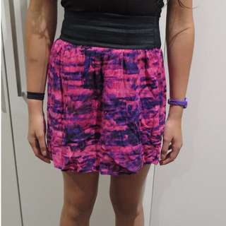 Supre purple and pink skirt xxs