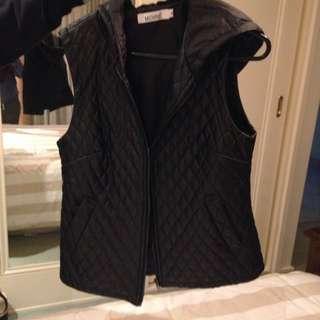 Black Vest With Hood