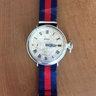 Vintage Russian Pocket Watch Converted to Wrist Watch