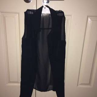 Black Chiffon Shirt