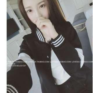 韓國黑白棒球外套