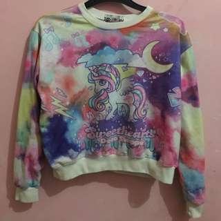 Unicorn Crop Sweater